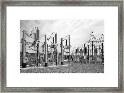 Bridge Ave Power Substation - Spokane Washington Framed Print by Daniel Hagerman