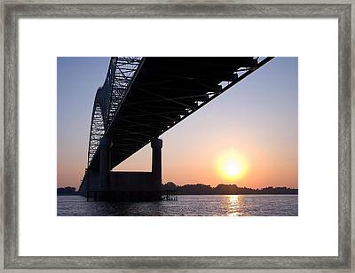 Bridge Over Mississippi River Framed Print
