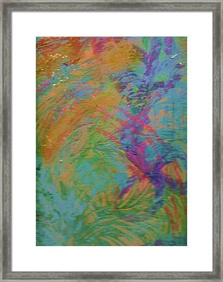 Bridge Connecting Fleeting Thoughts Framed Print by Anne-Elizabeth Whiteway