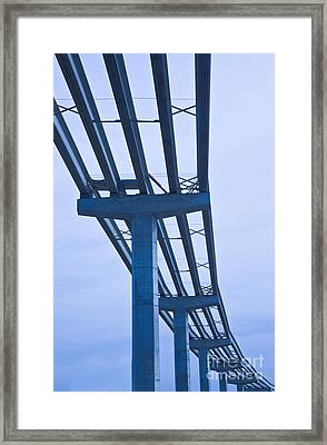 Bridge Construction Framed Print