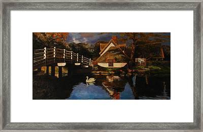 Bridge Cottage Framed Print