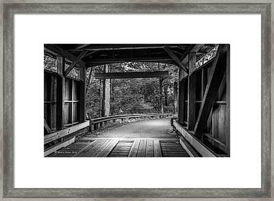 Bridge Exit Framed Print by Marvin Spates