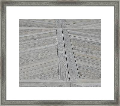 Bridge Floor Framed Print by Linda Geiger