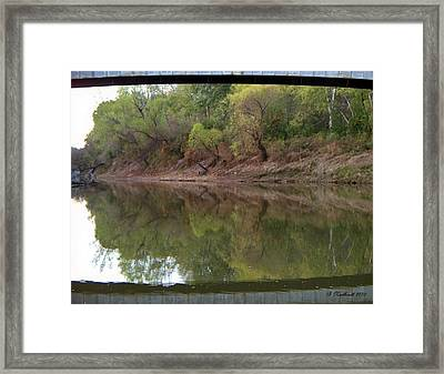 Framed Print featuring the photograph Bridge Frame by Betty Northcutt