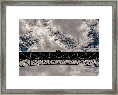 Bridge From Below Framed Print