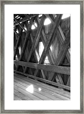 Framed Print featuring the photograph Bridge Glow by Greg Fortier