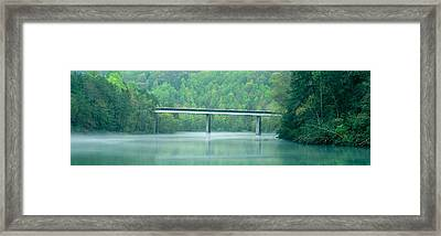 Bridge In Fog, Great Smokey Mountain Framed Print by Panoramic Images