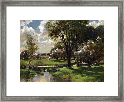Bridge In Late Spring Framed Print