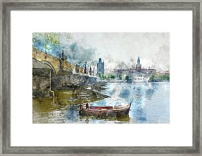 Bridge In Prague, Czech Republic Framed Print by Brandon Bourdages