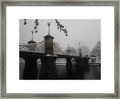 Bridge In Suspension 1867 Framed Print by Robert Nickologianis