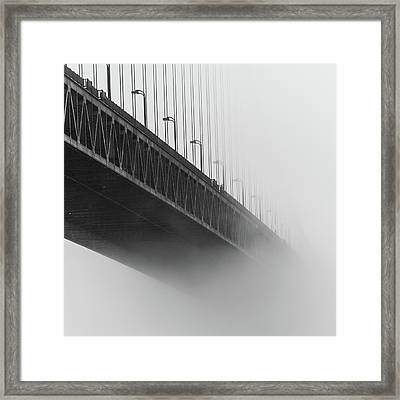 Framed Print featuring the photograph Bridge In The Fog by Stephen Holst