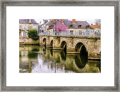 Bridge In The Loir Valley, France Framed Print