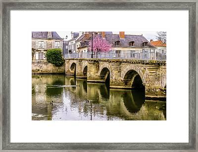 Bridge In The Loir Valley, France Framed Print