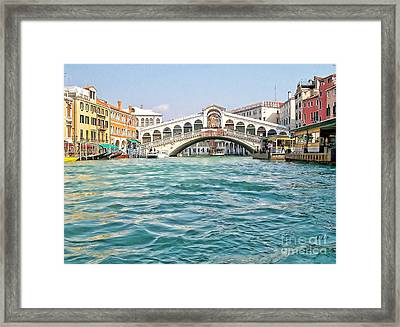Framed Print featuring the photograph Bridge In Venice by Roberta Byram