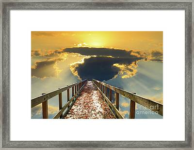 Bridge Into Sunset Framed Print