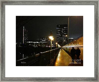 Bridge Into The Night Framed Print by Felipe Adan Lerma