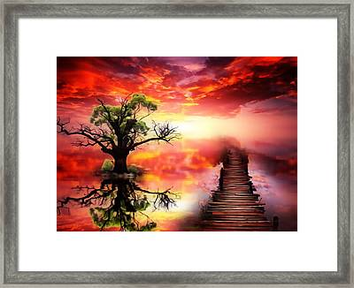 Bridge Into The Unknown Framed Print
