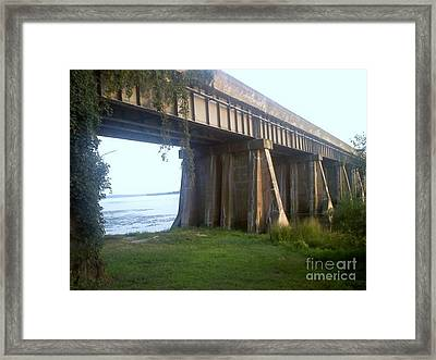 Bridge In Leesylvania Park Va Framed Print