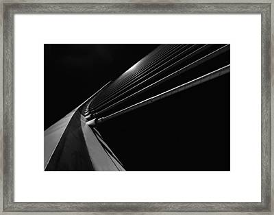 Bridge Lines Framed Print by Gerard Jonkman