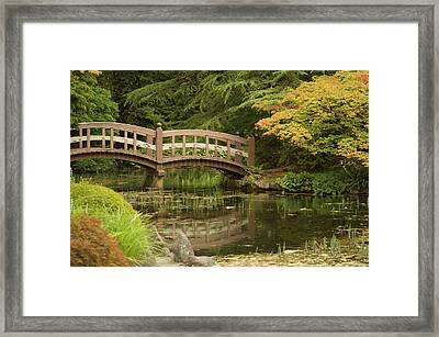 Garden Bridge 2 Framed Print by Marilyn Wilson