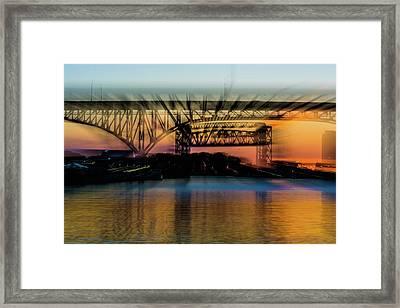 Bridge Motion Framed Print