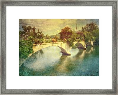 Bridge Of Flowers  Framed Print