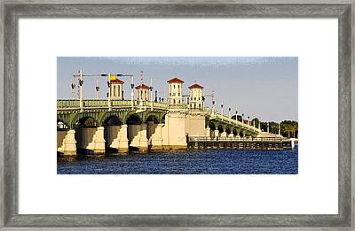 Bridge Of Lions Framed Print by David Lee Thompson