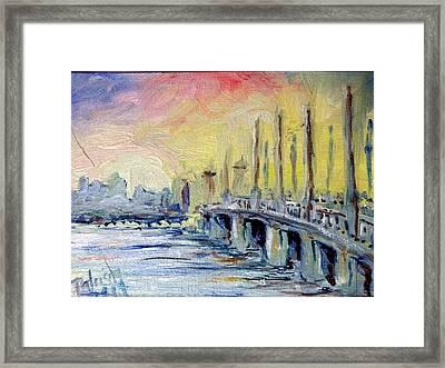 Bridge Of Lions St Augustine Framed Print by Patricia Ducher
