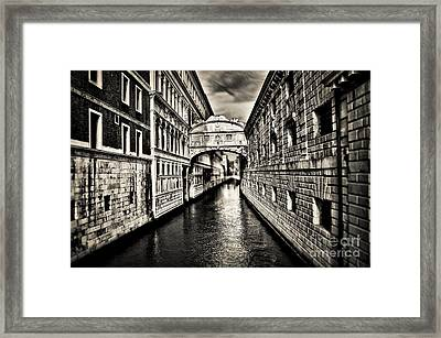 Bridge Of Sighs Framed Print by Alessandro Giorgi Art Photography
