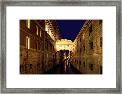 Bridge Of Sighs Framed Print by Andrew Soundarajan