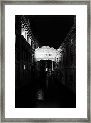 Bridge Of Sighs At Night Framed Print by Andrew Soundarajan