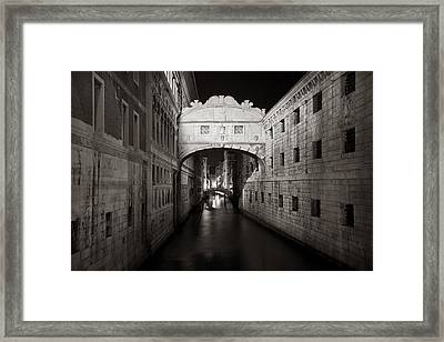 Bridge Of Sighs In The Night Framed Print
