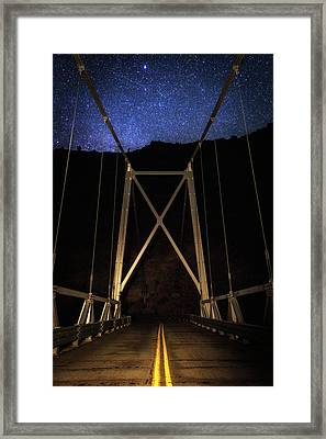 Framed Print featuring the photograph Bridge Of Stars by Cat Connor
