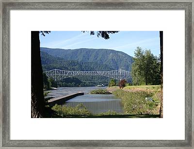 Bridge Of The Gods Br-4002 Framed Print by Mary Gaines