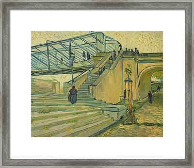 Bridge Of Trinquetaille Framed Print by Vincent van Gogh