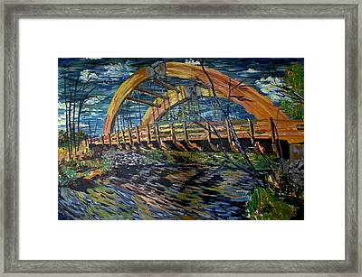 Bridge On County Rd. 27 Framed Print