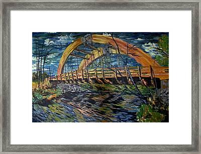 Bridge On County Rd. 27 Framed Print by Denny Morreale