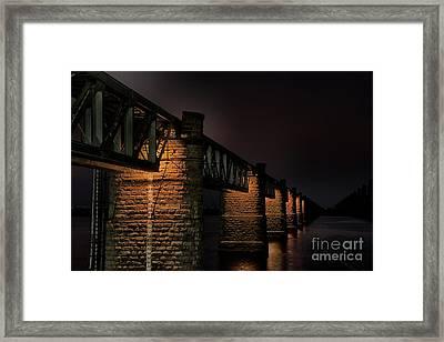 Bridge On Holy River Godavari Framed Print by Kiran Joshi