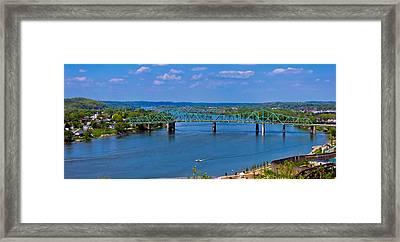 Bridge On The Ohio River Framed Print by Jonny D