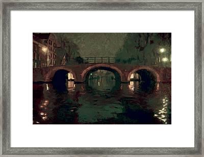 Bridge Over Amsterdam Canals Framed Print