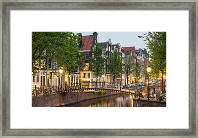 Bridge Over Brouwersgracht In Western Framed Print by Panoramic Images