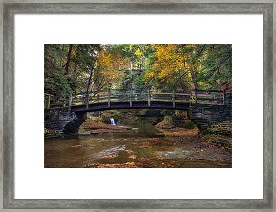 Bridge Over Buttermilk Creek Framed Print by Mark Papke