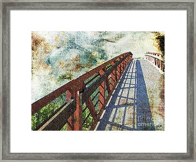Bridge Over Clouds Framed Print