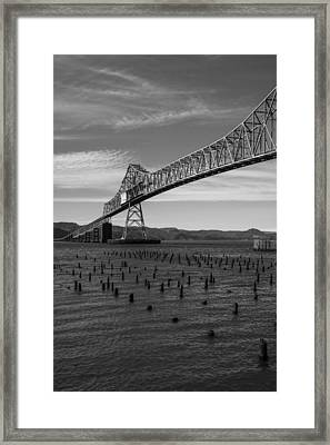 Framed Print featuring the photograph Bridge Over Columbia by Jeff Kolker