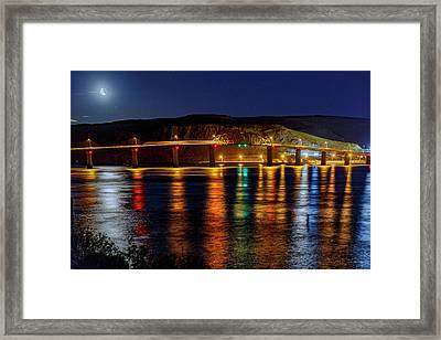 Framed Print featuring the photograph Bridge Over Columbia Waters by Cat Connor