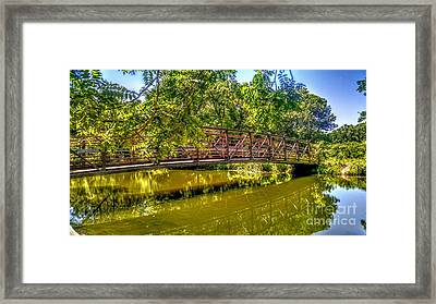 Bridge Over Delaware Canal At Colonial Park Framed Print