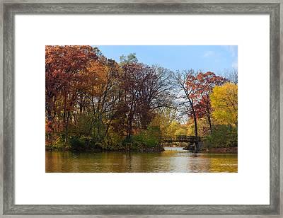 Bridge Over Herrick Lake Framed Print