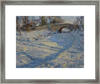 Bridge Over Lancaster Canal Framed Print by James Swanson