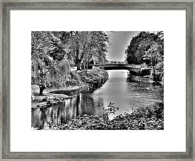 Bridge Over River Framed Print by Roberto Alamino