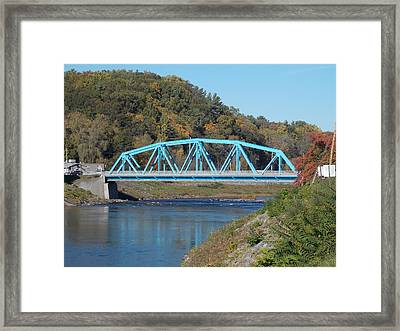 Bridge Over Rondout Creek 2 Framed Print
